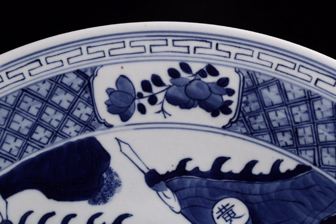 17-19TH CENTURY, A STORY DESIGN PORCELAIN PLATE, QING - 5