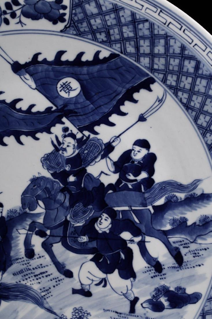 17-19TH CENTURY, A STORY DESIGN PORCELAIN PLATE, QING - 7