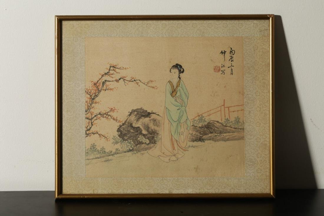 17-19TH CENTURY, A PAINTING, QING DYNASTY