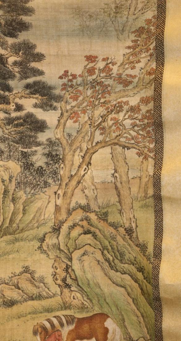 17-19TH CENTURY, A SILK TANGKA, QING DYNASTY - 10