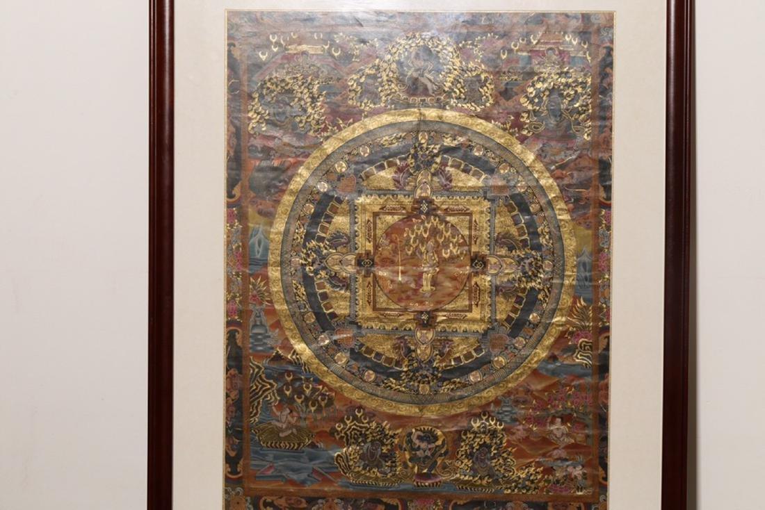 17-19TH CENTURY, A SILK TANGKA, QING DYNASTY - 2