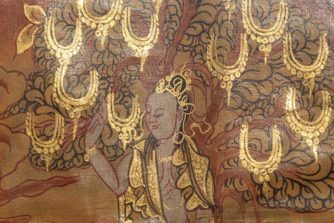 17-19TH CENTURY, A SILK TANGKA, QING DYNASTY - 6