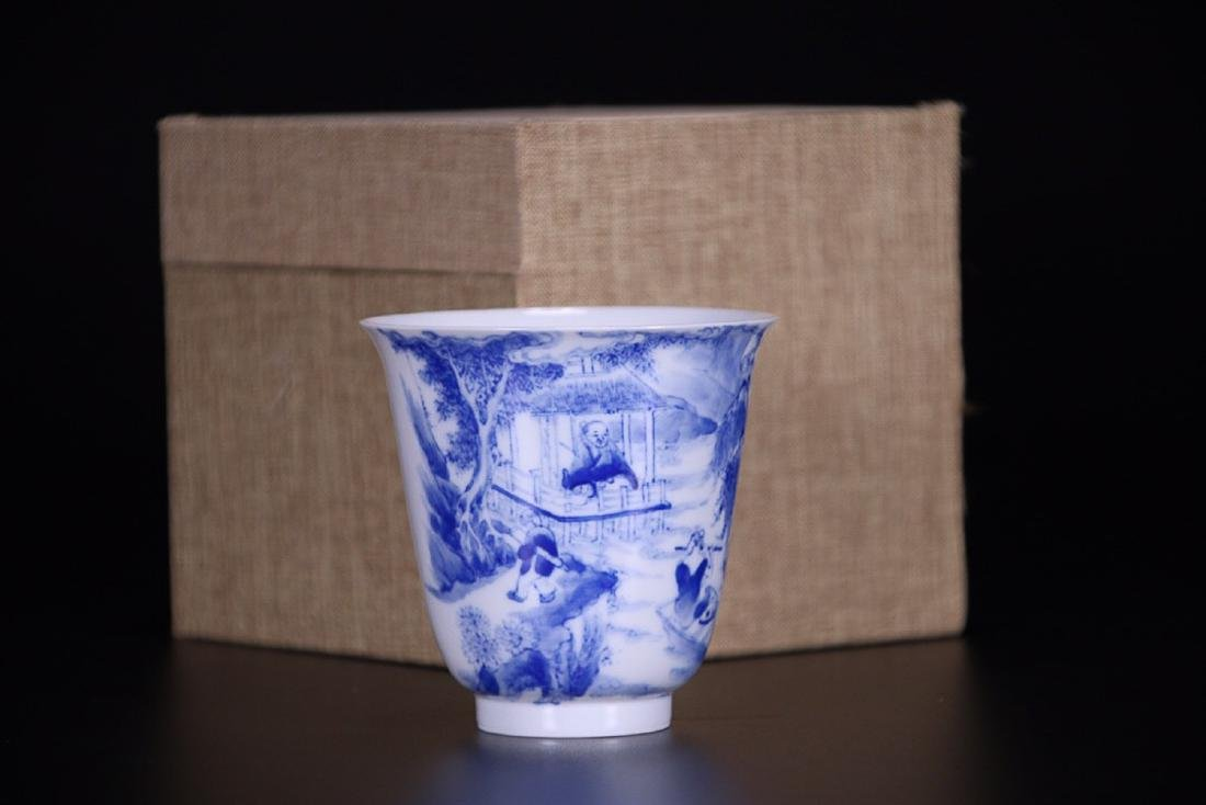 17-19TH CENTURY, AN OLD STORY DESIGN PORCELAIN CUP,