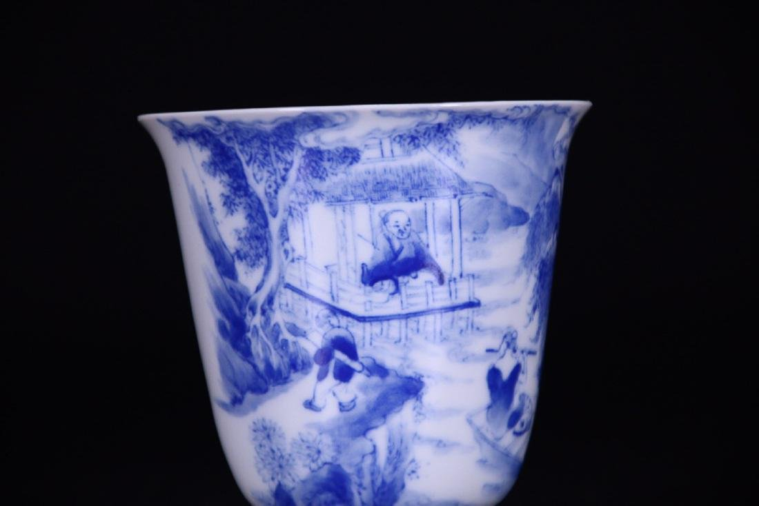 17-19TH CENTURY, AN OLD STORY DESIGN PORCELAIN CUP, - 5