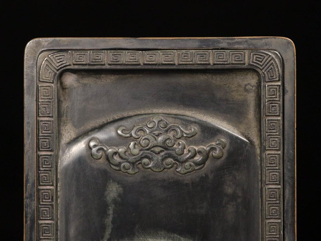 A STONE INK SLAB CARVED POETRY PATTERN - 7