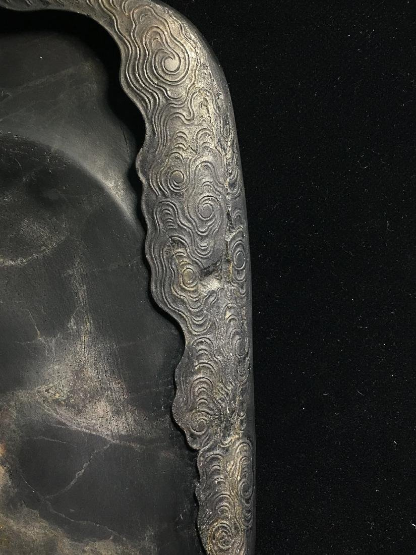 A DUAN STONE ICE PATTERN CARVED  INK SLAB - 5
