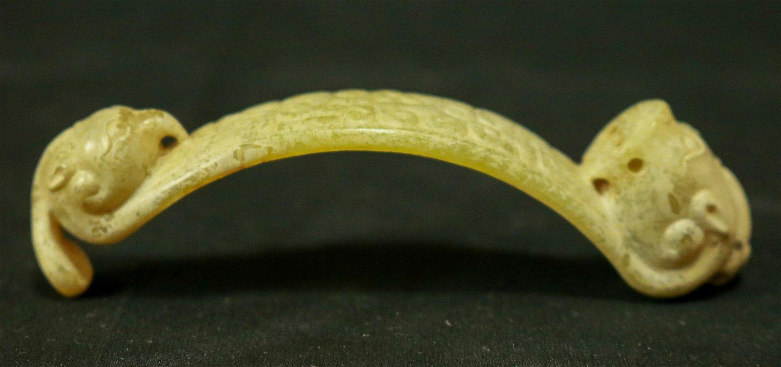 A JADE ORNAMENT DRAGON & PHOENIX CARVED