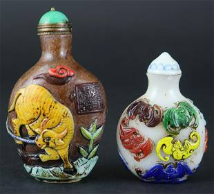 A PAIR OF SNUFF BOTTLES