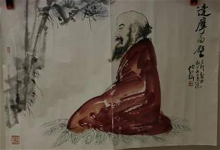 A BODHIDHARMA PATING OF BAI SHIHUA