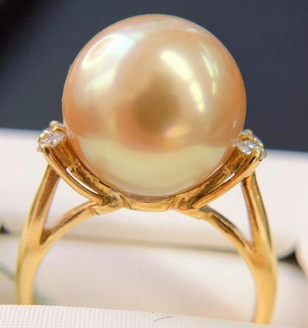A PT900&DIAMOND&THE SOUTH SEA PEARL RING