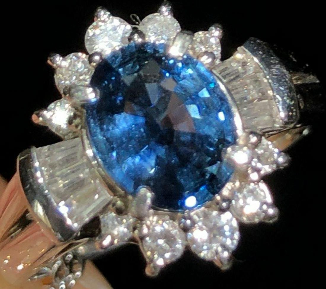 A PT850 WITH DIAMOND&SAPPHIRE RING