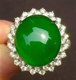 ICY GREEN JADEITE RING