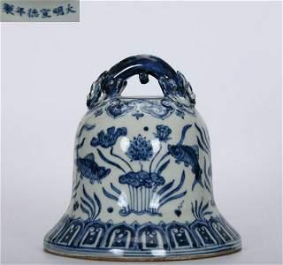 XUANDE MARK BLUE&WHITE GLAZE BELL