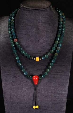 AGATE STRING NECKLACE