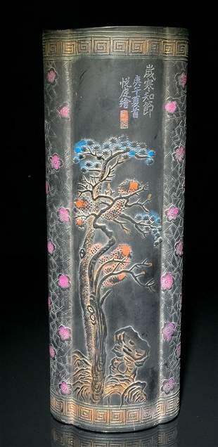 INKCAKE WITH TREE PATTERN