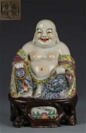 FUJIANHUIGUAN MARK POTTERY MAITREYA BUDDHA