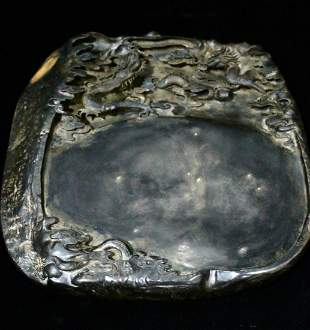 INK SLAB CARVED WITH DRAGON