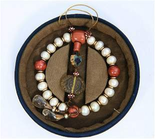PEARL BRACELET WITH 18 BEADS