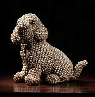 PEARL DOG PENDANT