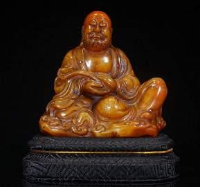 TIANHUANG STONE ARHAT BUDDHA STATUE