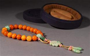 BEESWAX STRING BRACELET WITH 18 BEADS