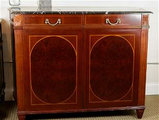 MARBLETOP BUREAUS AND CHESTS