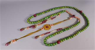 JADEITE CARVED NECKLACE WITH 108 BEADS