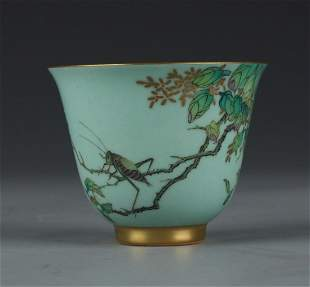 PORCELAIN CUP WITH INSECT PATTERN
