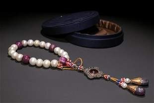 PEARL STRING BRACELET WITH 18 BEADS