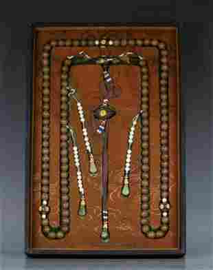 CHENXIANG WOOD STRING COURT NECKLACE
