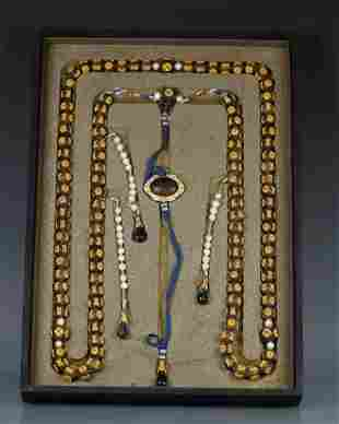 CHENXIANG WOOD STRING COURT NECKLACE WITH 108 BEADS