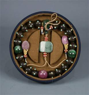 CHENXIANG WITH TURQUOISE STRING BRACELET WITH 18 BEADS