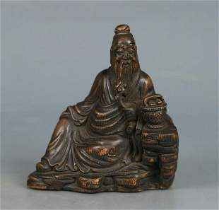 CHENXIANG WOOD CARVED FIGURE STATUE