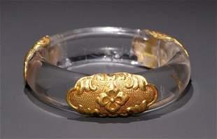 CRYSTAL GOLD FILLED BANGLE
