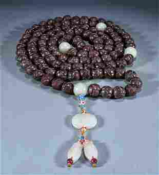 CHENXIANG WOOD BEADS STRING NECKLACE