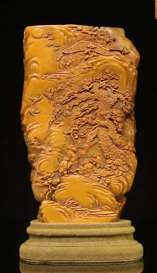 TIANHUANG STONE CARVED CUP SHAPED SEAL