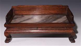 HUALI WOOD INLAID MARBLE SOFA BED