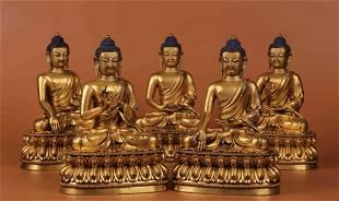 GILT BRONZE CAST BUDDHA STATUE