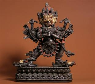 GILT SILVER CAST BUDDHA STATUE