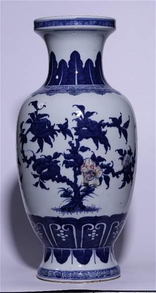 BLUE&WHITE GLAZE FLOWER PATTERN VASE
