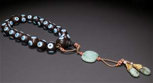 CHENXIANG WOOD WITH SHELL BRACELET
