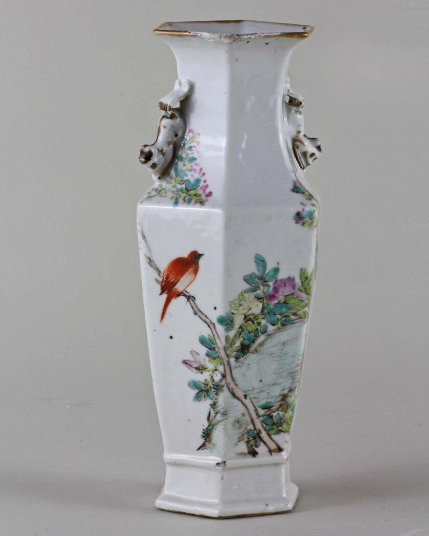 Hexagonal Enamel Vase