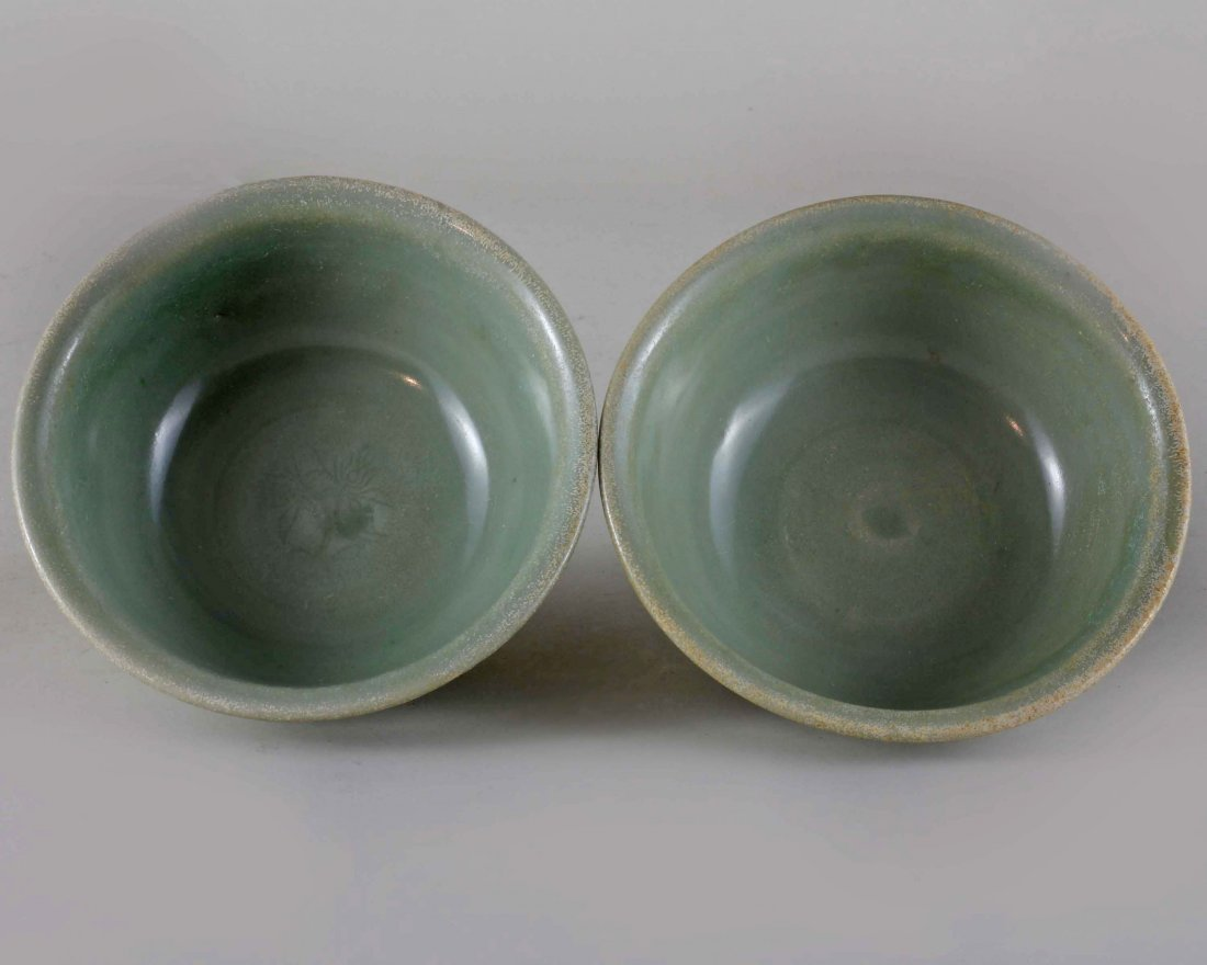 Pair of Longquan Celadon Bowls
