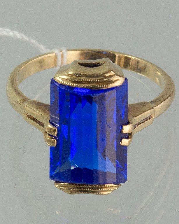 14K GOLD SAPPHIRE RING