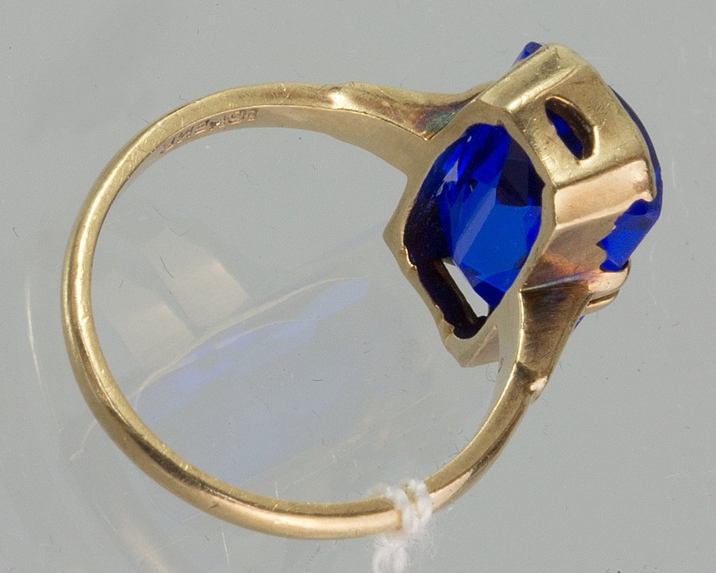 14K GOLD SAPPHIRE RING - 2