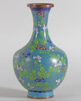 Cloisonne Long Neck Vase
