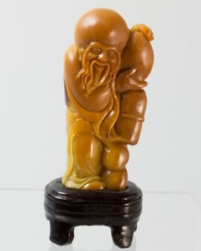 Soapstone Carving Of Shouxin