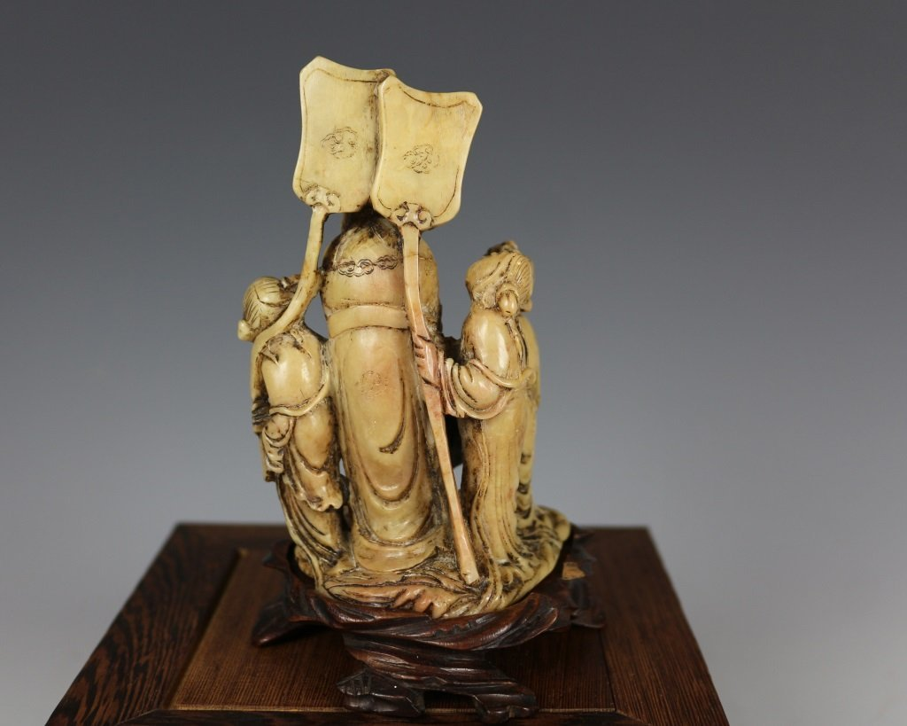 QING SOAPSTONE FIGURE CARVING - 3