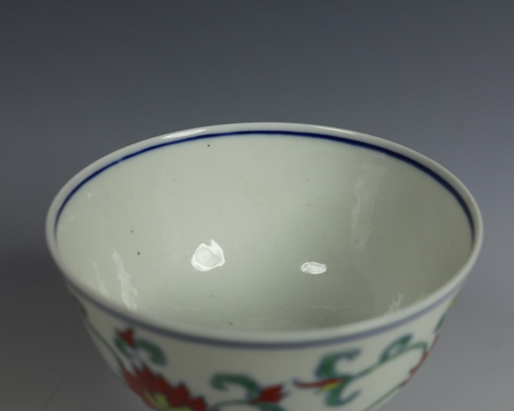 CHENGHUA MARK DOUCAI HIGH FOOT DISH - 4