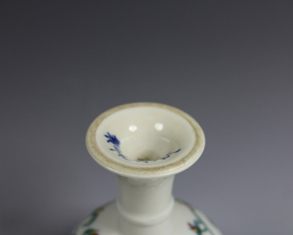 CHENGHUA MARK DOUCAI HIGH FOOT DISH - 6